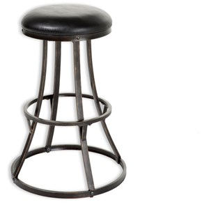 Morris Home Furnishings Metal Barstools 26-Inch Dover