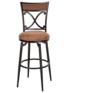 Morris Home Furnishings Metal Barstools Montgomery Metal Barstool