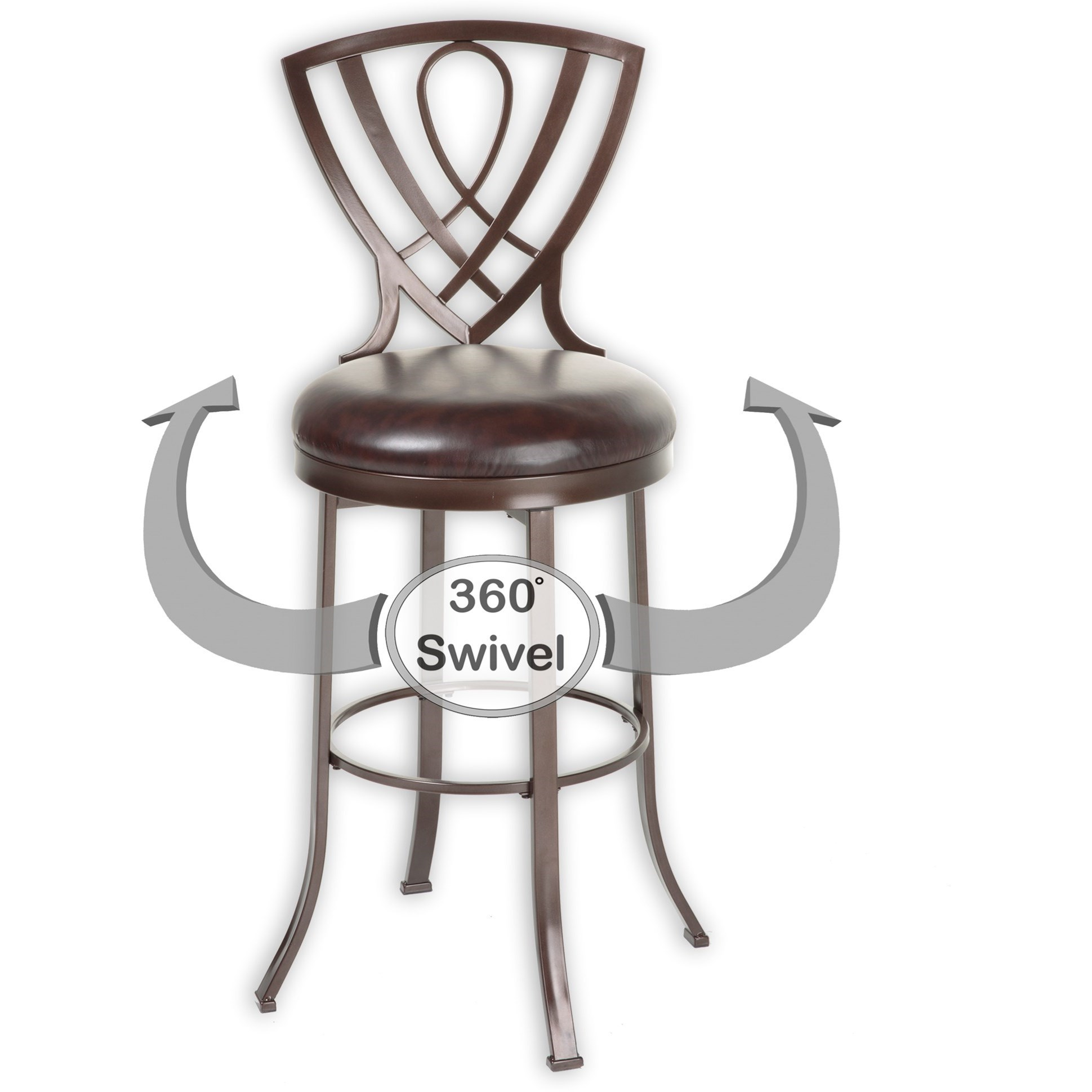 Fashion Bed Group Metal Barstools Transitional Lincoln