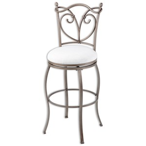 Morris Home Furnishings Metal Barstools Raleigh Metal Barstool
