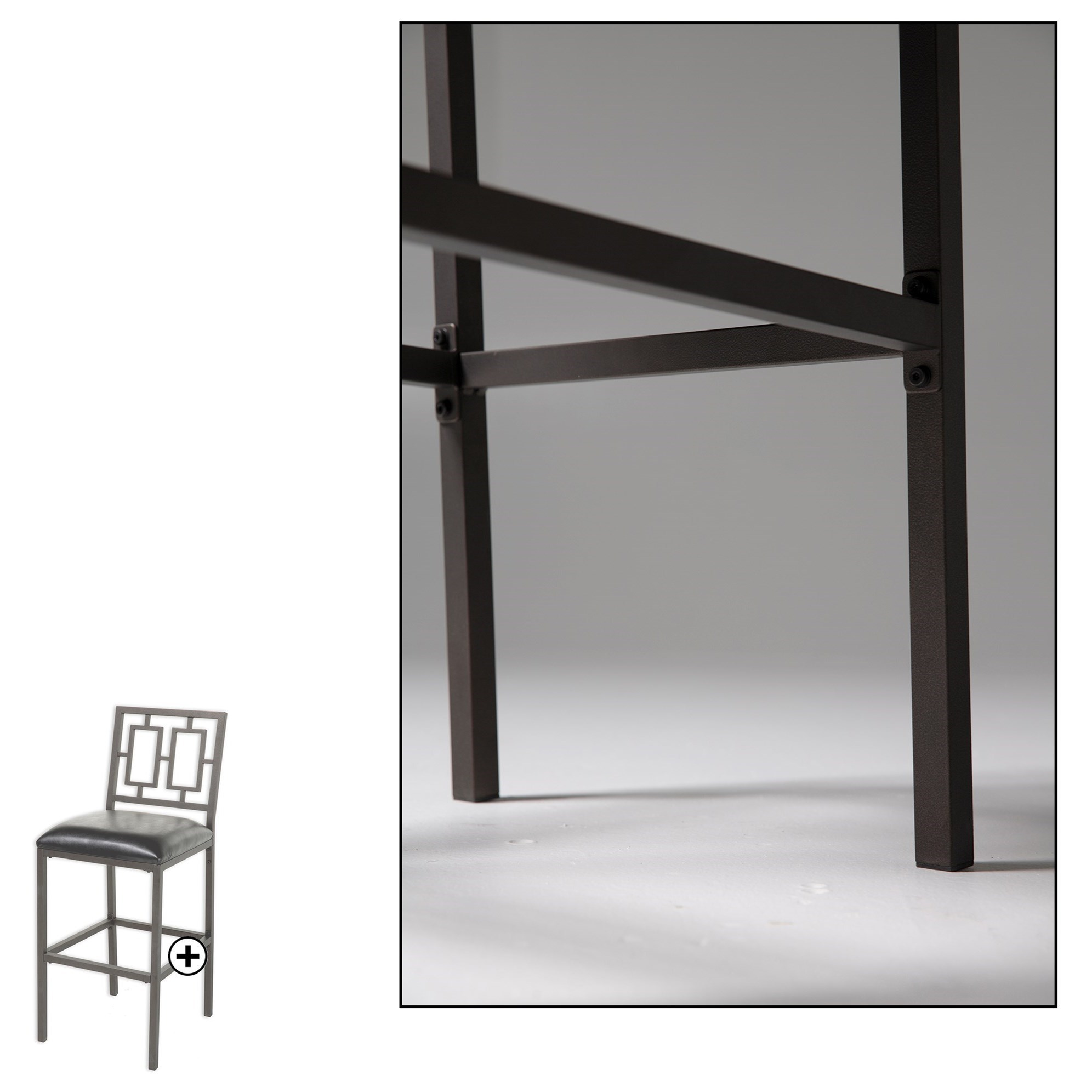 Fashion Bed Group Metal Barstools C1m096 Contemporary