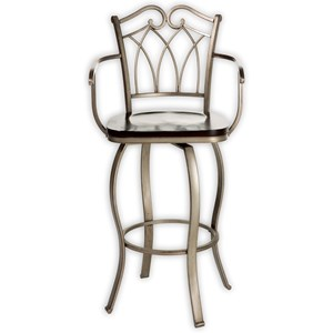 Morris Home Furnishings Metal Barstools Richmond Wood and Metal Barstool
