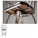 Fashion Bed Group Metal Barstools Traditional Richmond Wood and Metal Barstool