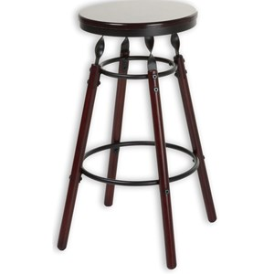 Morris Home Furnishings Metal Barstools Boston Wood and Metal Barstool
