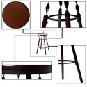 Fashion Bed Group Metal Barstools Transitional Boston Wood and Metal Barstool