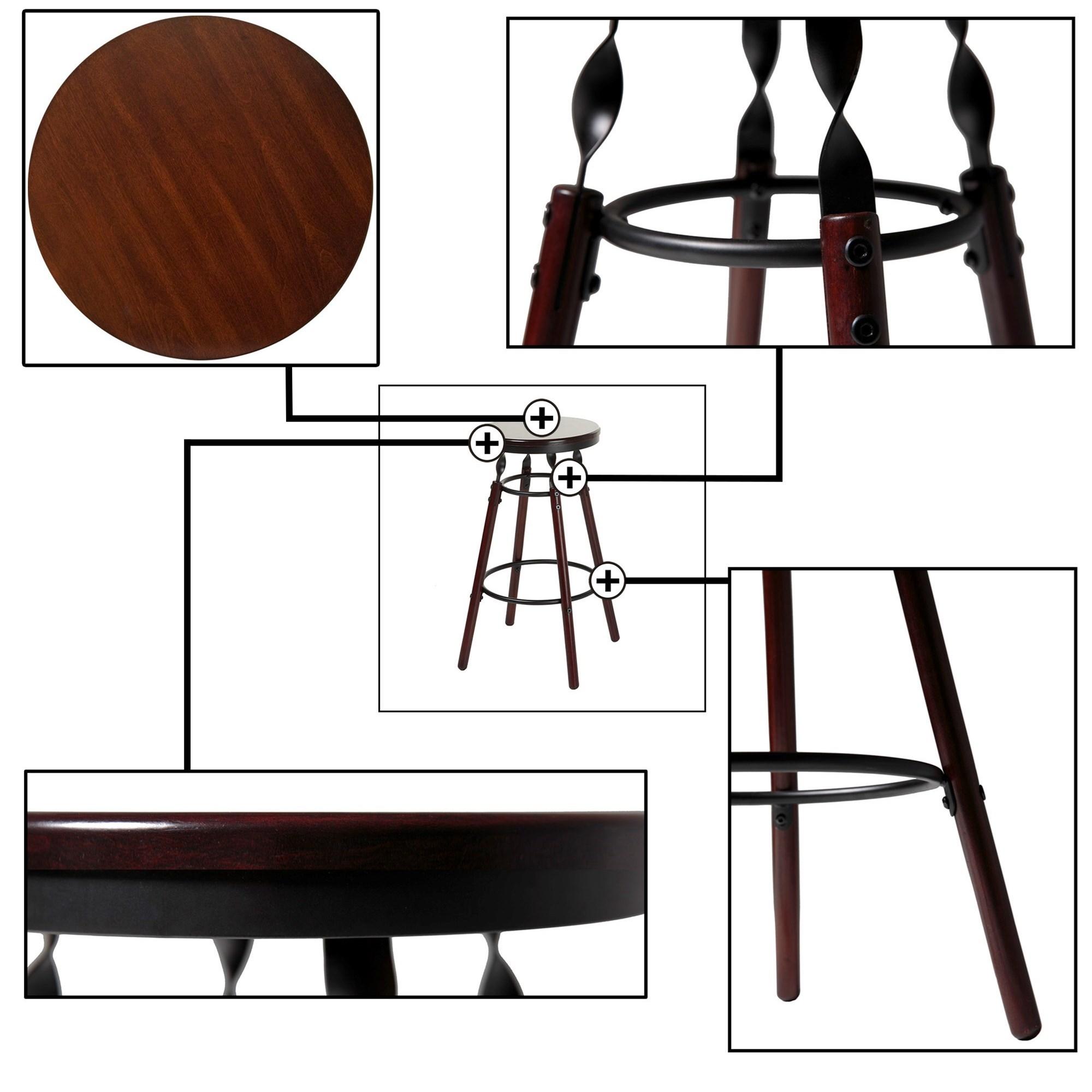 Fashion Bed Group Metal Barstools Transitional Boston Wood