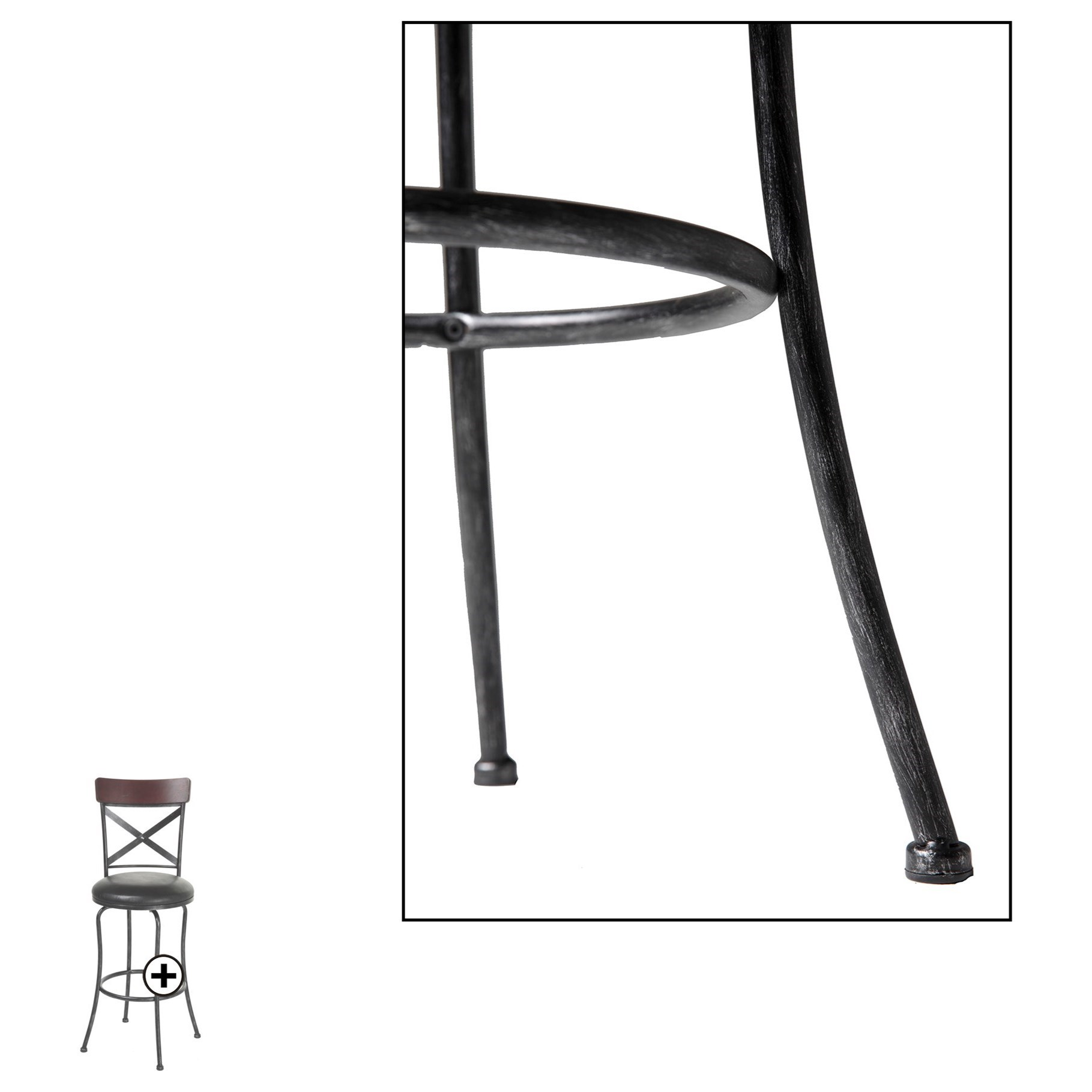 Fashion Bed Group Metal Barstools Transitional Austin Wood