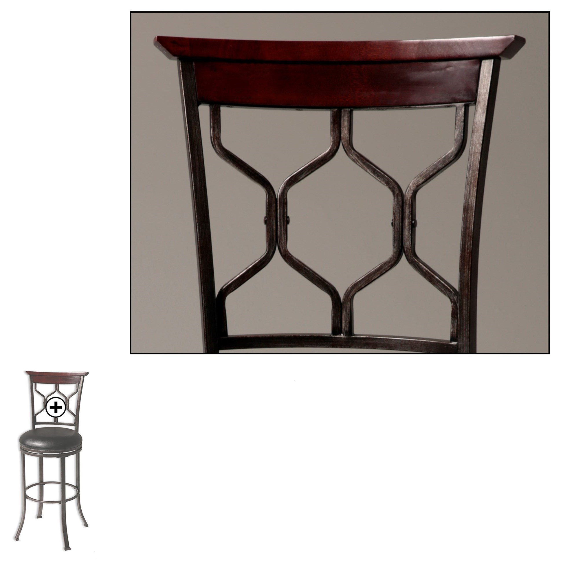 Fashion Bed Group Metal Barstools Contemporary Tallahassee