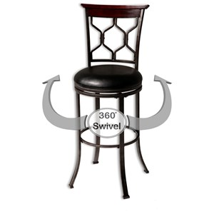Morris Home Furnishings Metal Barstools Tallahassee Wood and Metal Barstool