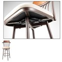 Fashion Bed Group Metal Barstools Transitional Augusta Wood and Metal Barstool