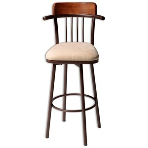 Morris Home Furnishings Metal Barstools Augustana Wood and Metal Barstool