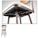 Morris Home Furnishings Metal Barstools Transitional Augustana Wood and Metal Barstool