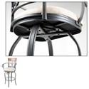 Morris Home Furnishings Metal Barstools Traditional Hartford Wood and Metal Barstool