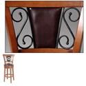 Morris Home Furnishings Metal Barstools Traditional Trenton Wood and Metal Barstool