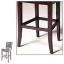 Morris Home Furnishings Metal Barstools Traditional Sacramento Wood and Metal Barstool