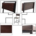 Fashion Bed Group Metal Barstools Transitional Olympia Wood and Metal Barstool