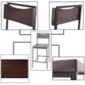 Fashion Bed Group Metal Barstools Transitional Columbus Wood and Metal Barstool