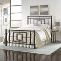 Fashion Bed Group Metal Beds Queen Sheridan Bed with Squared Metal Tubing and Geometric Design