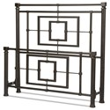 Fashion Bed Group Metal Beds King Sheridan Headboard and Footboard - Item Number: B10046