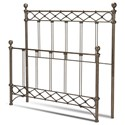 Fashion Bed Group Metal Beds King Argyle Headboard and Footboard - Item Number: B10286