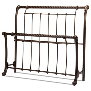 Fashion Bed Group Metal Beds Queen Legion Headboard and Footboard