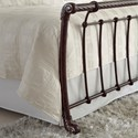 Fashion Bed Group Metal Beds King Legion Bed with Metal Sleigh Panels and Twisted Rope Top Rails