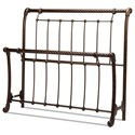 Fashion Bed Group Metal Beds Cal King Headboard and Footboard - Item Number: B10297