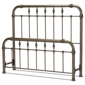 Morris Home Metal Beds Cal King Vienna Headboard and Footboard