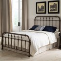 Fashion Bed Group Metal Beds California King Vienna Bed with Metal Panels and Carved Finials