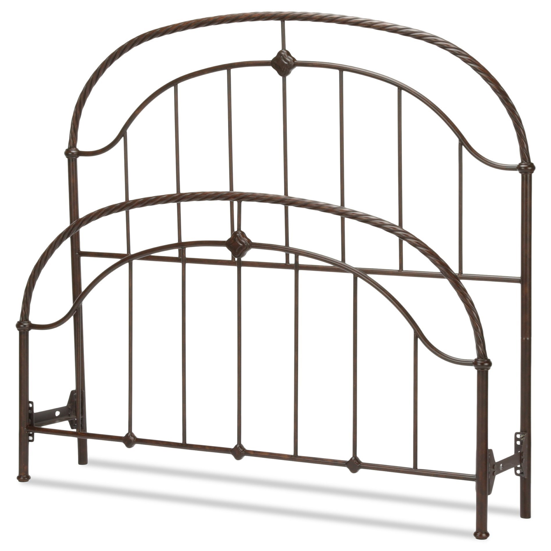 Fashion Bed Group Metal Beds Queen Cascade Headboard and Footboard - Item Number: B10385
