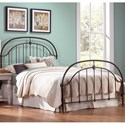 Fashion Bed Group Metal Beds Queen Cascade Headboard and Footboard with Metal Panels and Twisted-Rope Rail