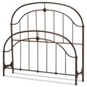 Fashion Bed Group Metal Beds King Cascade Headboard and Footboard - Item Number: B10386