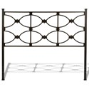 Fashion Bed Group Metal Beds Queen Marlo Headboard and Footboard with Metal Panels and Squared Finial Posts