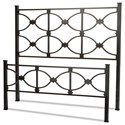 Fashion Bed Group Metal Beds King Marlo Headboard and Footboard - Item Number: B10476