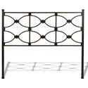 Fashion Bed Group Metal Beds California King Marlo Headboard and Footboard with Metal Panels and Squared Finial Posts