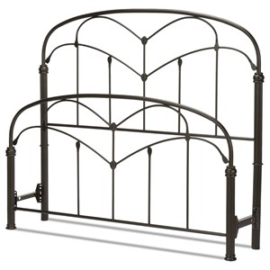 Fashion Bed Group Metal Beds King Pomona Headboard and Footboard