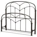 Fashion Bed Group Metal Beds Cal King Pomona Headboard and Footboard - Item Number: B10757