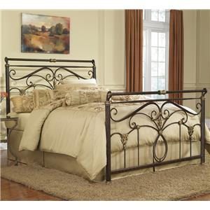 Morris Home Furnishings Metal Beds Queen Lucinda Bed without Frame