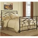 Morris Home Furnishings Metal Beds Queen Lucinda Bed without Frame - Item Number: B10835