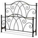 Fashion Bed Group Metal Beds Cal King Deland Headboard and Footboard - Item Number: B10A17