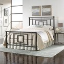 Morris Home Furnishings Metal Beds Queen Metal Ornamental Bed - Item Number: B11045