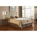Morris Home Furnishings Metal Beds Cal King Shabby Chic Lafayette Metal Ornamental Bed