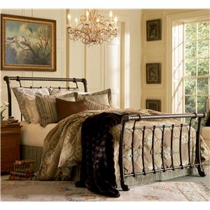 Morris Home Furnishings Metal Beds Queen Legion Bed w/ Frame