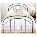 Fashion Bed Group Metal Beds Queen Transitional Cascade Metal Ornamental Bed