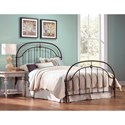Fashion Bed Group Metal Beds King Transitional Cascade Metal Ornamental Bed