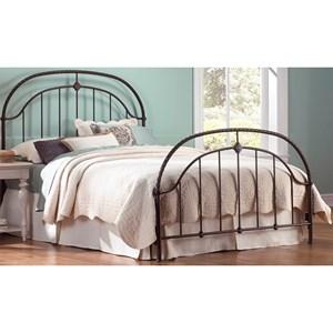 Morris Home Furnishings Metal Beds Cal King Metal Ornamental Bed