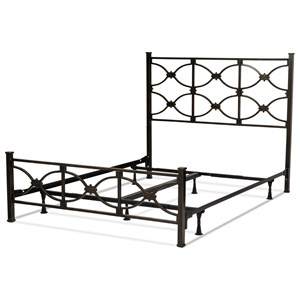 Queen Metal Ornamental Bed