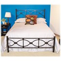 Morris Home Furnishings Metal Beds Queen Contemporary Marlo Metal Ornamental Bed