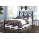 Fashion Bed Group Metal Beds King Contemporary Marlo Metal Ornamental Bed