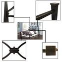 Morris Home Furnishings Metal Beds California King Contemporary Marlo Metal Ornamental Bed